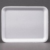 Genpak 1004S (#4S) White 9 1/4 inch x 7 1/4 inch x 1/2 inch Foam Supermarket Tray - 125 / Pack