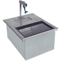 Advance Tabco D-24-WSIBL2 Stainless Steel Water Station with Ice Bin - 18 inch x 21 1/4 inch