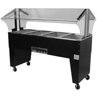 Advance Tabco B4-240-B Four Pan Everyday Buffet Hot Food Table with Open Base - Open Well