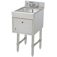 Advance Tabco SC-15-TS Stainless Steel Underbar Hand Sink with Soap / Towel Dispensers - 15 inch x 21 inch