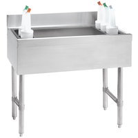Advance Tabco CRI-12-48 Stainless Steel Underbar Ice Bin - 48 inch x 21 inch