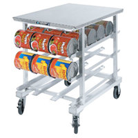 Lakeside 346 Aluminum Mobile #10 Can Rack with Stainless Steel Top - 35 inch High