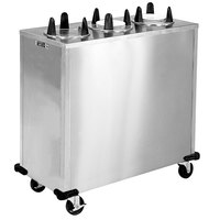 Lakeside 5310 Stainless Steel Enclosed Three Stack Non-Heated Plate Dispenser for 9 1/4 inch to 10 1/8 inch Plates