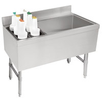 Advance Tabco CRCI-48LR-7 Stainless Steel Ice Bin and Storage Rack Combo with 7-Circuit Cold Plate - 48 inch x 21 inch