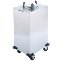 Lakeside 6110 Stainless Steel Enclosed Heated One Stack Plate Dispenser for 9 1/4 inch to 10 1/8 inch Plates