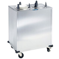 Lakeside 5206 Stainless Steel Enclosed Two Stack Non-Heated Plate Dispenser for 5 7/8 inch to 6 1/2 inch Plates