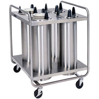 Lakeside 7410 Stainless Steel Open Base Non-Heated Four Stack Plate Dispenser for 9 1/4 inch to 10 1/8 inch Plates