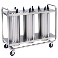 Lakeside 8305 Stainless Steel Heated Three Stack Plate Dispenser for 5 1/8 inch to 5 3/4 inch Plates