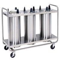 Lakeside 8309 Stainless Steel Heated Three Stack Plate Dispenser for 8 1/4 inch to 9 1/8 inch Plates