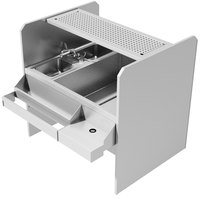 Advance Tabco CR-44X36SP-7-R Stainless Steel Pass-Through Workstation with Perforated Drainboard Shelf (Right Side Ice Bin)