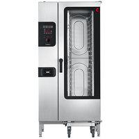 Cleveland Convotherm C4ED20.10GS Half Size Roll-In Boilerless Gas Combi Oven with easyDial Controls - 136,500 BTU