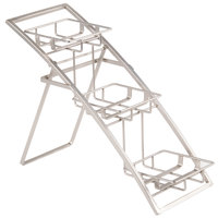 American Metalcraft TASSM Folding Three Tier Chrome Arch Stand