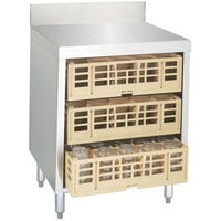 Advance Tabco CRCR-24 Flat Top Glass Rack Storage Unit