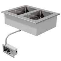 Advance Tabco DISW-2 Stainless Steel Two Well Drop-In Sealed Electric Unit - 208/240V