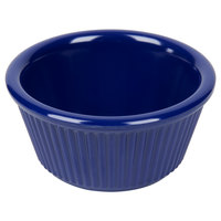 3 oz. Navy Blue Fluted Melamine Ramekin - 12/Pack