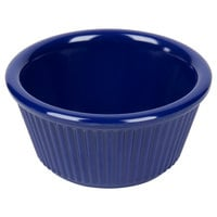 3 oz. Navy Blue Fluted Melamine Ramekin 12 / Pack