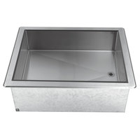 Advance Tabco DICP-3 Stainless Steel Three Pan Size Drop-In Ice Cooled Unit