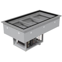 Advance Tabco DIRCP-6 Stainless Steel Six Well Drop-In Refrigerated Cold Pan Unit