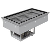 Advance Tabco DIRCP-2 Stainless Steel Two Well Drop-In Refrigerated Cold Pan Unit