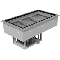 Advance Tabco DIRCP-3 Stainless Steel Three Well Drop-In Refrigerated Cold Pan Unit