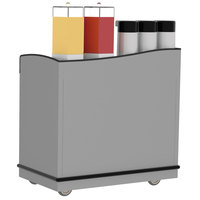 Lakeside 8706 Stainless Steel Full-Service Hydration Cart with Adjustable Universal Ledges - 44 3/4 inch x 25 3/4 inch x 42 1/2 inch