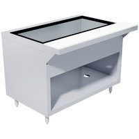 Advance Tabco HDCPU-3-DR Stainless Steel Heavy-Duty Ice-Cooled Table with Enclosed Base and Sliding Doors
