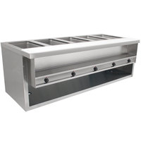 Advance Tabco HDSW-5-240-BS Stainless Steel Heavy-Duty Five Pan Electric Sealed Table with Enclosed Base - 208/240V