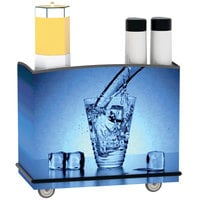 Lakeside 8702 Stainless Steel Full-Service Hydration Cart with Shelf - 44 3/4 inch x 25 3/4 inch x 38 1/4 inch