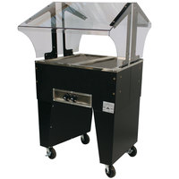 Advance Tabco B2-B Open Base Everyday Buffet Stainless Steel Two Pan Electric Hot Food Table - Open Well - 120V
