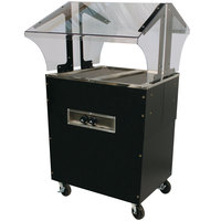 Advance Tabco B2-B-SB Enclosed Base Everyday Buffet Stainless Steel Two Pan Electric Hot Food Table - Open Well, 208/240V