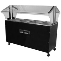Advance Tabco B5-240-B-SB Enclosed Base Everyday Buffet Stainless Steel Five Pan Electric Hot Food Table - Open Well