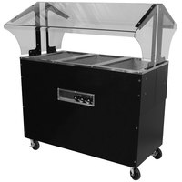 Advance Tabco B3-240-B-SB Enclosed Base Everyday Buffet Stainless Steel Three Pan Electric Hot Food Table - Open Well