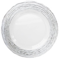 The Jay Companies 13 inch Round Arizona Silver/Clear Glass Charger Plate