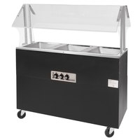 Advance Tabco BSW4-B-SB Enclosed Base Everyday Buffet Stainless Steel Four Pan Electric Hot Food Table - Sealed Well