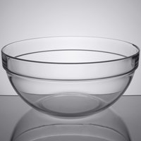 Cardinal Arcoroc 09994 144 oz. Stackable Glass Ingredient Bowl