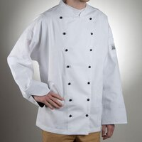 Chef Revival J013-S Chef-Tex Size 36 (S) Customizable Poly-Cotton Executive Chef Jacket