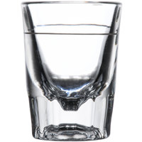 Libbey 5126/A0007 2 oz. Fluted Whiskey / Shot Glass with 1 oz. Cap Line   - 12/Pack