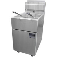 Anets SLG100 70-100 lb. SilverLine Gas Fryer - 150,000 BTU