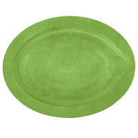 Lodge UOPB8 9 inch x 11 3/4 inch Lime Green Oval Wood Underliner for Oval Serving Griddles