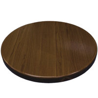 American Tables & Seating ATR24-W Resin 24 inch Round Table Top - Walnut