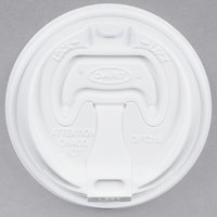 Dart Solo OPT316 White Optima Lid with Reclosable Tab   - 1000/Case