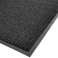 Cactus Mat 1485M-L36 3' x 6' Charcoal Needle Rib Carpet Mat - 3/8 inch Thick