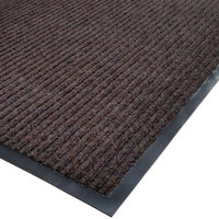 Cactus Mat 1485M-B46 4' x 6' Brown Needle Rib Carpet Mat - 3/8 inch Thick