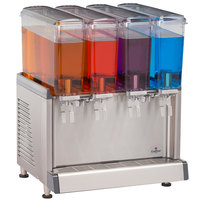 Crathco Mini-Quad CS-4E-16 Quadruple 2.4 Gallon Bowl Premix Cold Beverage Dispenser with Agitation Function