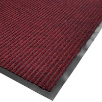 Cactus Mat 1485R-R4 4' x 60' Red Needle Rib Carpet Mat Roll - 3/8 inch Thick