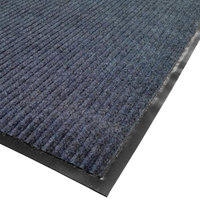 Cactus Mat 1485M-U34 3' x 4' Blue Needle Rib Carpet Mat - 3/8 inch Thick