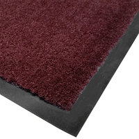 Cactus Mat 1438R-R4 Tuf Plush 4' x 60' Olefin Carpet Entrance Floor Mat Roll - Burgundy