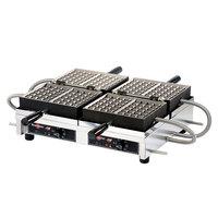 Krampouz WECCBBAT 4 inch x 6 inch Brussels-Style Double Belgian Waffle Maker - 208/240V, 3600W