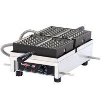 Krampouz WECDBAAS 4 inch x 6 inch Brussels-Style Single Belgian Waffle Maker - 120V, 1440W