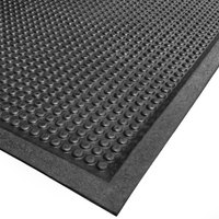 Cactus Mat 2502-30240 30 inch x 240 inch Bubble-Eze Raised Bubble Safety Mat / Anti-Fatigue Mat - Black